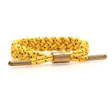 Rastaclat Bollard Braided Shoelace Rasta Golden Wristband Yellow Black RC046BLLD