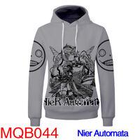 Anime NieR:Automata Cosplay Printing Hoodie pullover Hooded Coat Sweatshirt Top