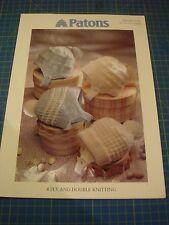 PATONS Bébé Casque Knitting Pattern 5268