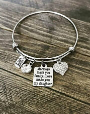 Marriage Made You Family Mothers Day Stepdaughter Adoption Bangle Bracelet Gift