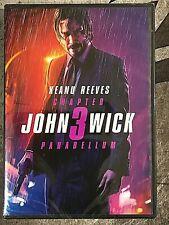JOHN WICK Chapter 3 PARABELLUM DVD 2019 Brand New & Sealed USA