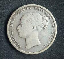 1880 Great Britain Silver Shilling Queen Victoria British Coin KM#734.4