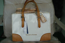 $324 Dooney & Bourke Patent Leather Satchel WHITE W/MARKS A264835