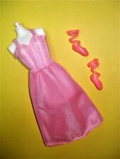 Vtg Barbie 80s Doll Clothes Lot Satiny Pink House Dress No Label