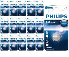 16 x PHILIPS cr1620 3v BATTERIA AL LITIO BOTTONE moneta cella dl1620-scadenza 2021