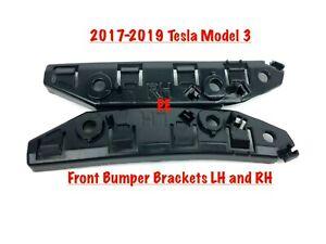 Fits 2017-2019 TESLA MODEL 3 Front Bumper Side Brackets 1084181-00-E NEW