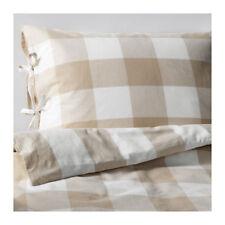 IKEA Emmie Ruta Double Duvet Cover & 4x Pillow Cases, ( Beige )