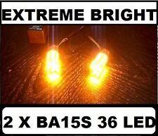 BA15S 1156 LED Orange Amber Turn Blinker Indicator Bulbs Globes Holden Ford