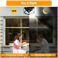 100 LED Solar Power PIR Motion Sensor Wall Light  Garden Lamp Waterproof UK BEST