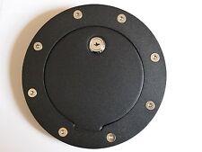 Black Gas Fuel Door Cover w/Lock Chevrolet Silverado Suburban Sierra Cadillac