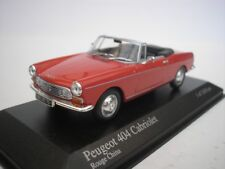 Peugeot 404 Cabrio 1962 Red 1 43 Minichamps 400112630 Miniature