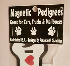 Dog Bone Magnet for car or home - I Love My Cockapoo Dogs Puppy