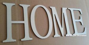 Lettre decorative HOME en alu brossé , hauteur 40 cm