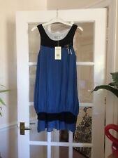 Ravi Famous Blue Black Small Dress With Brooch Detail