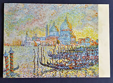 VINTAGE ART POSTCARD Signac, Venezia Pointalism Painting UNPOSTED