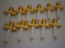 Lot of 3 Omni Spectra M/A-Com 2052-0000-00 RF Coaxial Connectors SMA Jack
