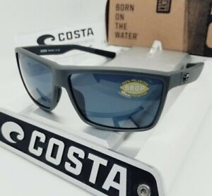 COSTA DEL MAR matte gray/gray RINCONCITO POLARIZED 580P sunglasses! NEW IN BOX!