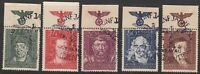 Stamp Germany Poland General Gov't Mi 120-4 Sc NB36-40 1944 WWII Eagle TOP Used