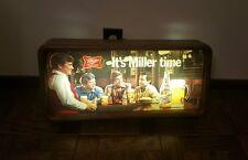 Vintage Miller Time High Life Lighted Beer Bar Sign Fishing 30 x 18 1980