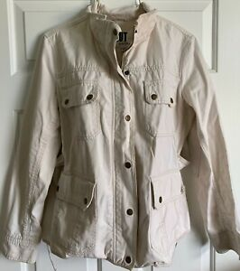 KUT FROM THE KLOTH  Khaki Zip Snap front Cargo Safari Jacket  xlnt!  L XL
