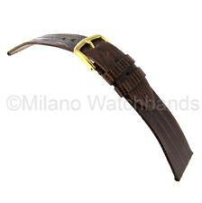 20mm Hadley Roma Genuine Teju Lizard Brown Flat Unstitched Watch Band 969