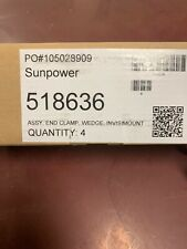 NEW 4 Pack of Sunpower 518636 Invisimount End Clamp