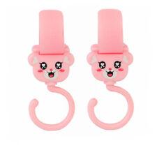 2x Pink Clip Hooks for Orbit Baby Child Stroller Hang Shopping Diaper Bag NEW