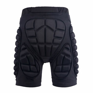 BL_ Unisex Motorcycle Snowboard Ski Protective Hip Butt Padded Shorts Breathable