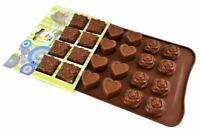 Silikon Schokoladenform Pralinenform mit 24 Herz Rose Geschenk Formen Schokolade