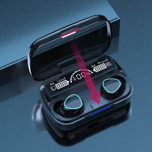 Bluetooth 5.1 Wireless Earbuds Earphone In-Ear Stereo TWS Headset LCD Display