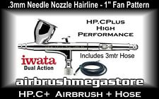 Iwata High Performance Airbrush HP.CP .3mm Inc3mtr Bt010 Hose +Free Insured Post