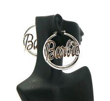 New Nicki Minaj Pincatch Barbie Fashion Earrings Rhodium