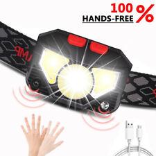 Rechargeable Sensor Head Light Torch WaterproofS Running Camping LED Headlamp UK