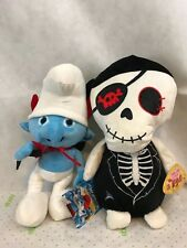Smurfs Blue Devil And Sugar Loaf Skeleton Pirate Plush Stuffed Animal New Gift
