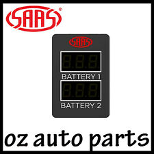 SAAS Dual Battery Volts Switch Gauge Digital Gauge Toyota Prado 150 Series