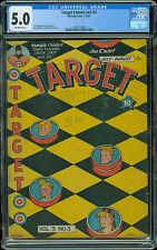 Target Comics V5 #3  CGC 5.0  Rare World War 2 WWII  1944