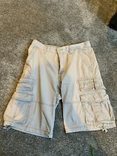 "Mens Grey Cotton Old Navy CARGO SHORTS 32"" Waist"