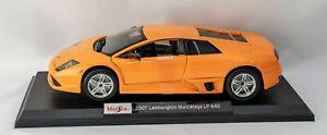 2007 Lamborghini Murcielago LP 640 1:18 Model Car Maisto Special Edition, New
