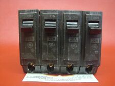 Lot of 4 - 20 Amp General Electric Type Thql 1 Pole Thql1120 Circuit Breakers