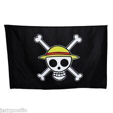 Anime One Piece Straw Hat Pirates Skull Logo Monkey D Luffy Cosplay Flag Cos Toy