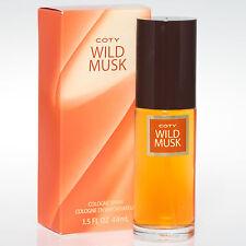 COTY WILD MUSK Perfume by Coty, 1.5 oz Cologne Spray for Women NIB