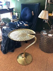 Gilded Gold Finish  Lily pad Table 55 cm High x 43 cm Wide x 43 cm Deep