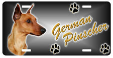 German Pinscher red Taxi Line License Plate (( LOW CLEARANCE PRICE ))