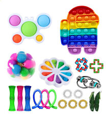 28 Pack Set Fidget Toys poppets Kids Adults Toy pop it Sensory Tools Bundle