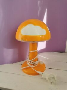 IKEA Vintage Children's Lamp Skojig Orange Bedside Table Mushroom Cloud Light