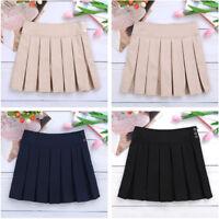 Kid Girls Stretchy Pleated Durable Adjustable Waist School Uniforms Skirt Skorts