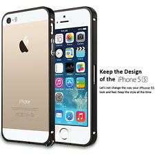 Apple iPhone 5 5S Bumper Case Frame [Ultra Fit] Aluminum Cover with Hippo Buckle