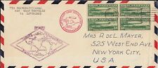 U.S. C13 FVF Blk/4 Used on Cover (11920a)