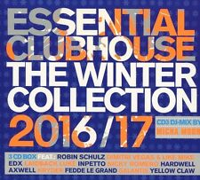 Essential CLUBHOUSE - 2016/2017 Winter Collection + Robin Schulz, Hardwell 3 CD NUOVO