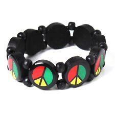 Rasta Peace Vibration Wrist Bracelet Hippie Negril Dub Reggae Marley RGY